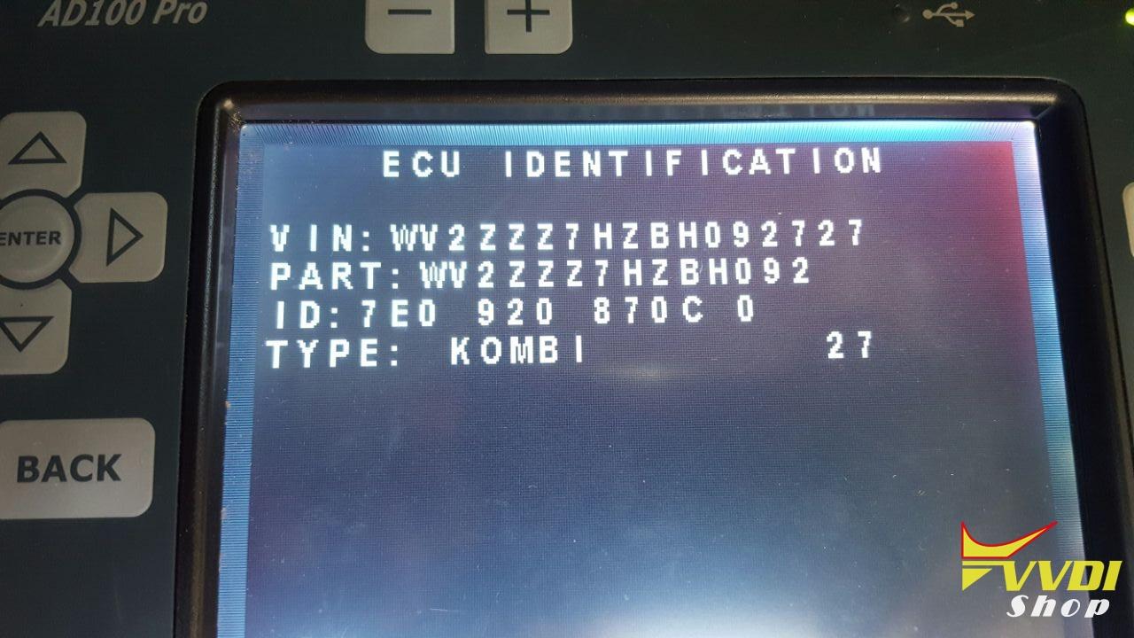 UDS Dash Info