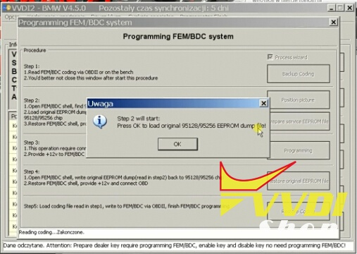 How to use Xhorse VVDI2 to Reset KM on BMW FEM BDC Module
