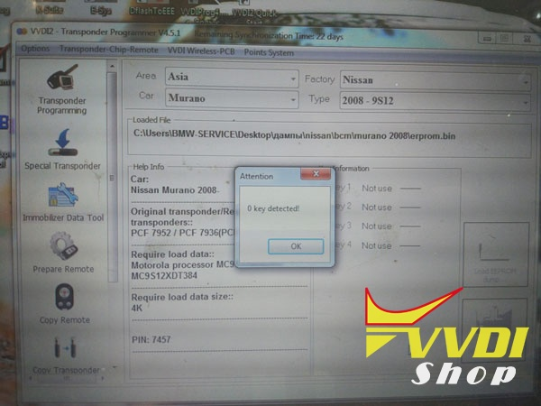 How to Program Nissan Murano 2008 key with VVDI2 | VVDIshop com