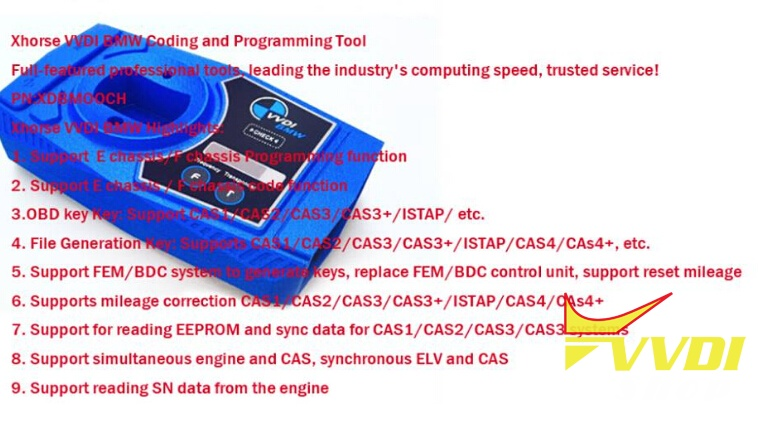 VVDI BMW Coding and Programming Tool Software Preview