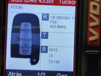tucson ix35 smart key id46 2