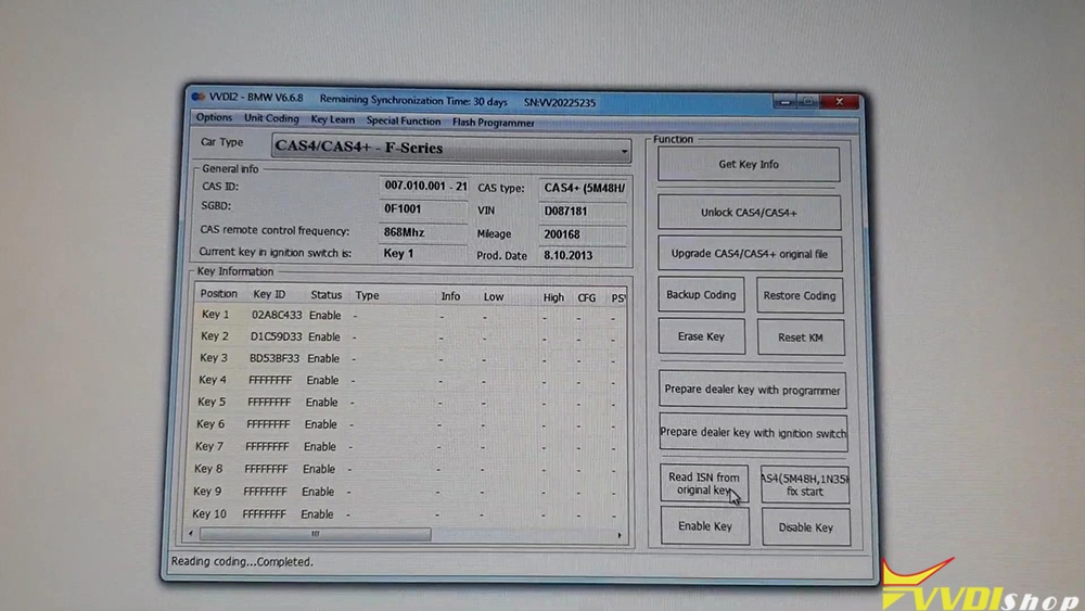 bmw-cas4-km-reset-on-bench-via-vvdi2-09
