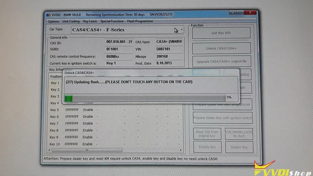 bmw-cas4-km-reset-on-bench-via-vvdi2-14