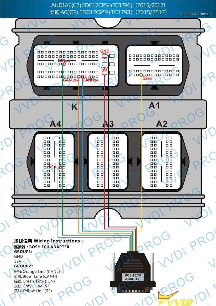 Audi Edc17cp54 Wiring Diagram To Xhorse, Audi A6 Wiring Diagram