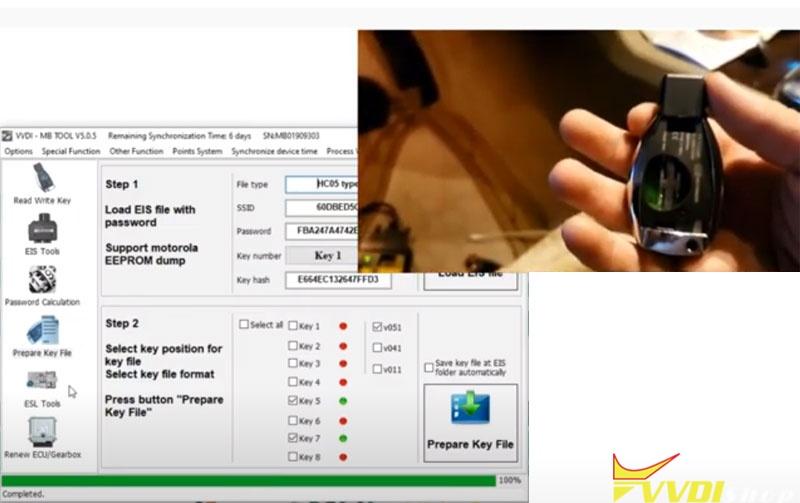 Vvdi Mb Gl45 Fbs3 Keylessgo Key 10