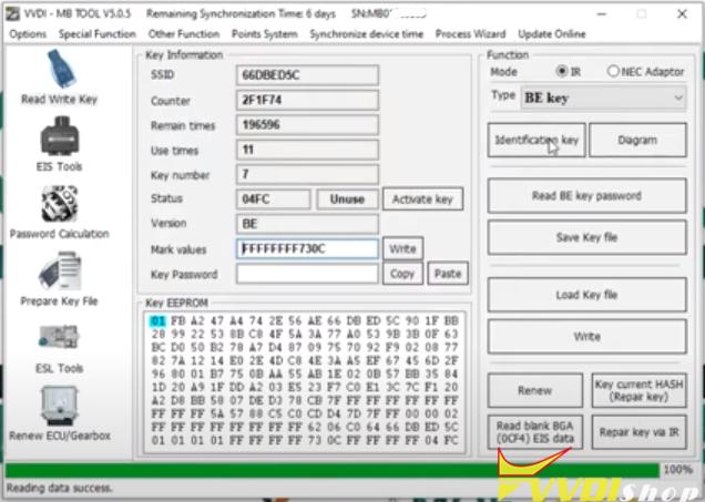 Vvdi Mb Gl45 Fbs3 Keylessgo Key 15