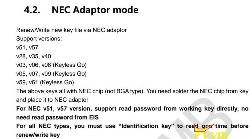 Nec Adaptor Mode 02