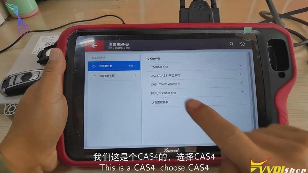 Match Bmw Cas4 Key Via Xhorse Vvdi Key Tool Plus 04