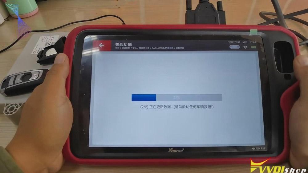 Match Bmw Cas4 Key Via Xhorse Vvdi Key Tool Plus 13