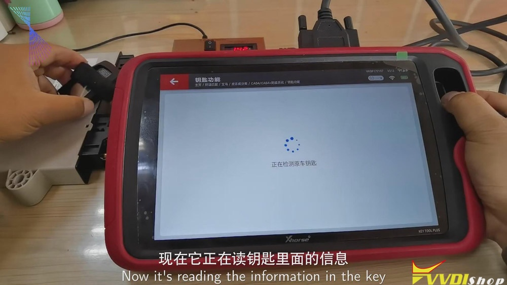 Match Bmw Cas4 Key Via Xhorse Vvdi Key Tool Plus 19