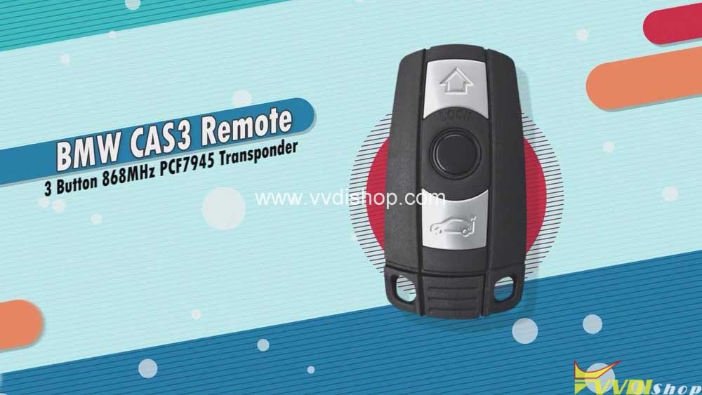 Xhorse Vvdi2 Program Bmw Cas2 3 Remote Key Obd 01
