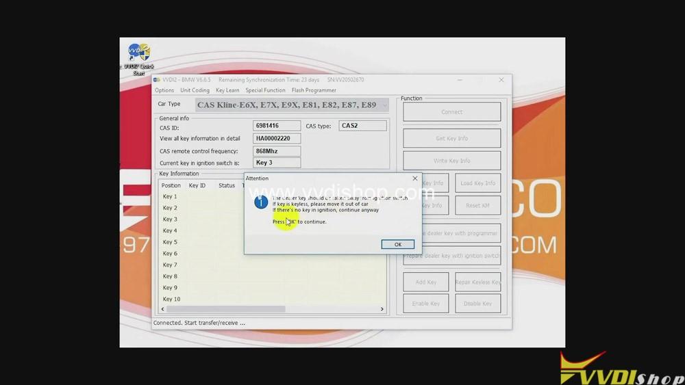 Xhorse Vvdi2 Program Bmw Cas2 3 Remote Key Obd 06