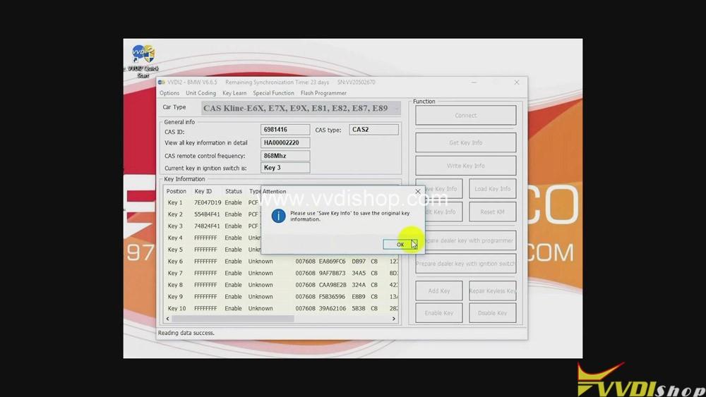 Xhorse Vvdi2 Program Bmw Cas2 3 Remote Key Obd 07