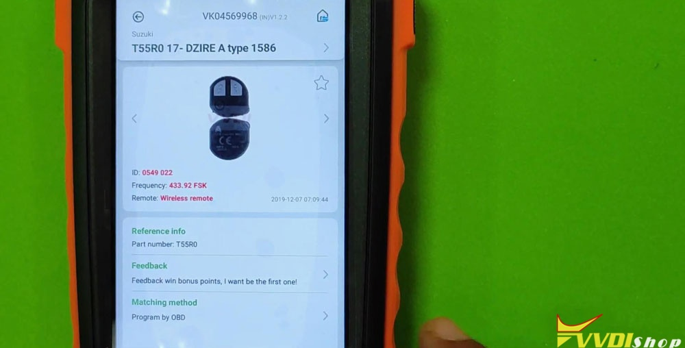 Vvdi Key Tool Max Mini Obd Tool Add Smart Key For Suzuki Dzire (4)