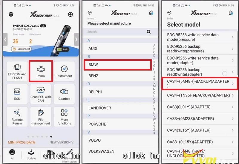 Xhorse Vvdi Mini Prog Read Bmw Cas4 D Flash (5)