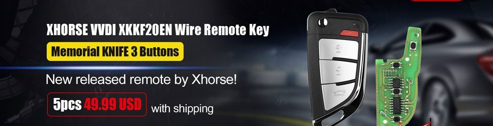 Xhorse Xkkf20en Smart Key