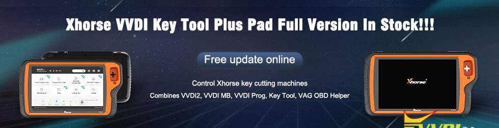 980 280 Xhorse VVDI Key Tool Plus Pad Full Version In Stock