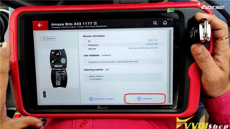 VVDI Key Tool Plus Pad Program Honda Brio ID46 Key Remote (5)