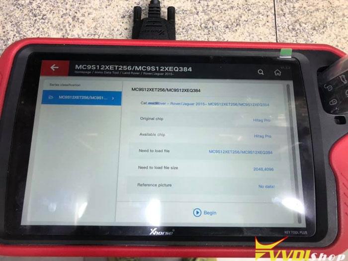 Xhorse Vvdi Key Tool Range Rove Evoque 2018 6