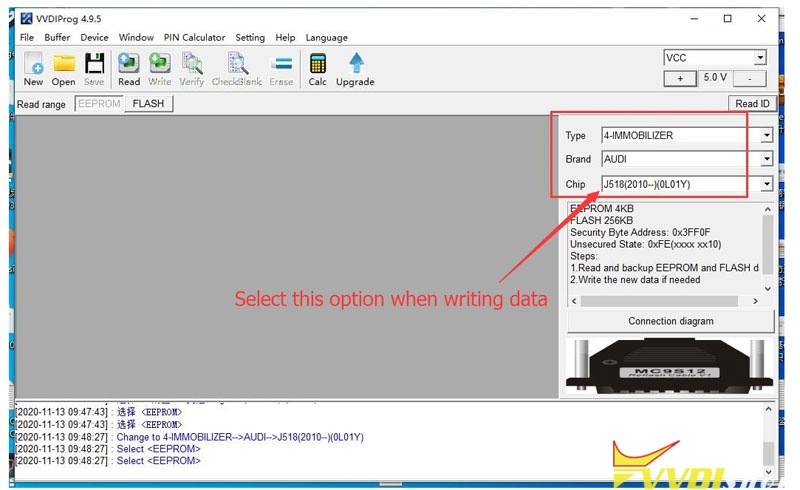 Select This Option When Writing Data