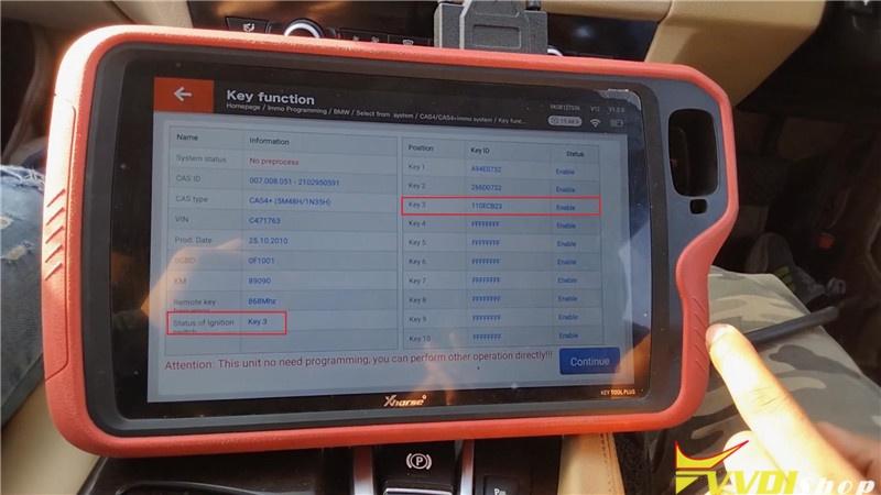 Vvdi Key Tool Plus Program Bmw 520d 2011 Cas4 Akl By Obd (18)