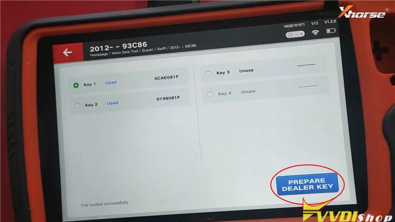 Vvdi Key Tool Plus Program Suzuki Swift 2012 93c86 Key By Eeprom (16)