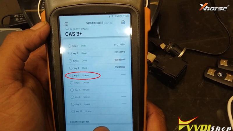 Vvdi Key Tool Max Mini Prog Add Key For Bmw Cas3 On Bench (15)
