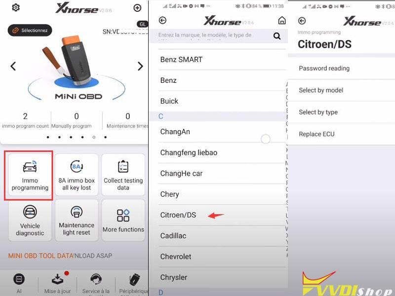 Xhorse Mini Obd Read Pin Citroen 1