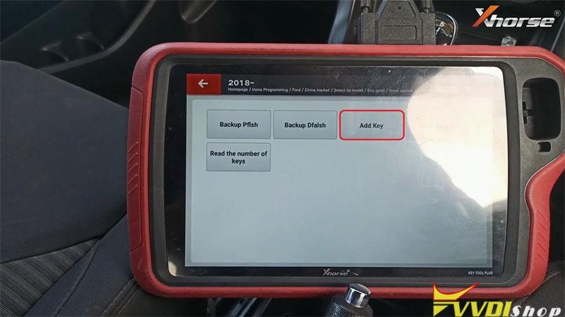 Xhorse Vvdi Key Tool Plus Add Key Id49 For Ford Freestyle 2018 (7)