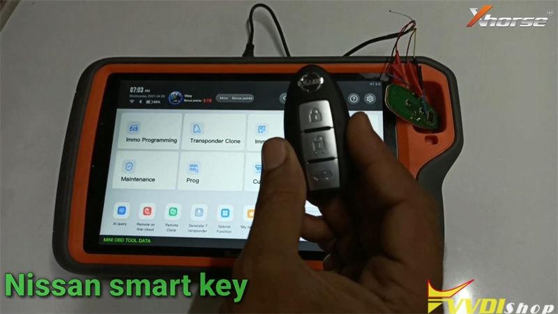 Unlock Nissan Micra Smart Key By Xhorse Vvdi Key Tool Plus (1)