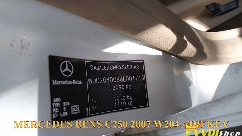 Xhorse Vvdi Key Tool Plus Adds Benz C250 2007 W204 Key By Obd (1)
