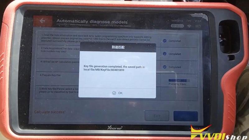 Xhorse Vvdi Key Tool Plus Adds Benz C250 2007 W204 Key By Obd (15)
