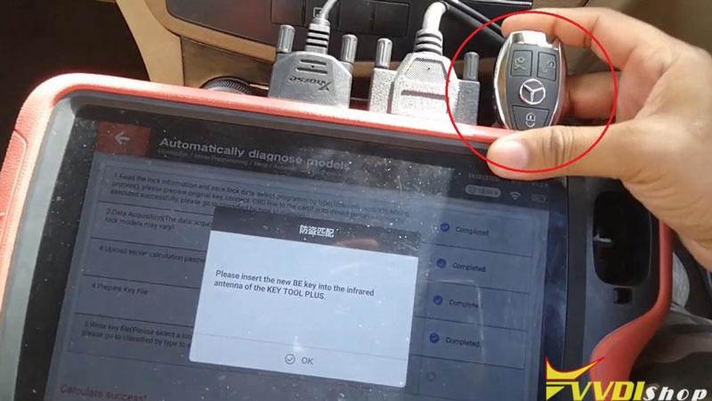Xhorse Vvdi Key Tool Plus Adds Benz C250 2007 W204 Key By Obd (16)