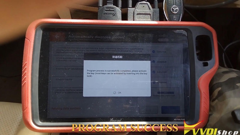 Xhorse Vvdi Key Tool Plus Adds Benz C250 2007 W204 Key By Obd (17)