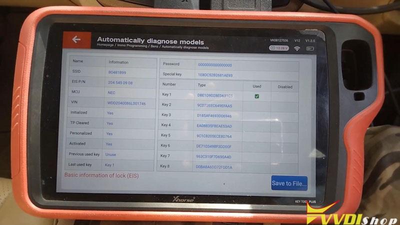 Xhorse Vvdi Key Tool Plus Adds Benz C250 2007 W204 Key By Obd (6)