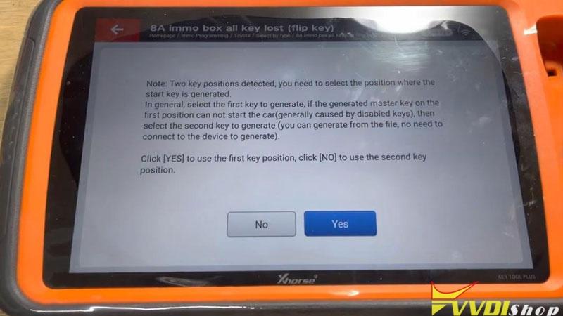 Xhorse Vvdi Key Tool Plus Program Toyota H Chip All Key Lost Success (13)