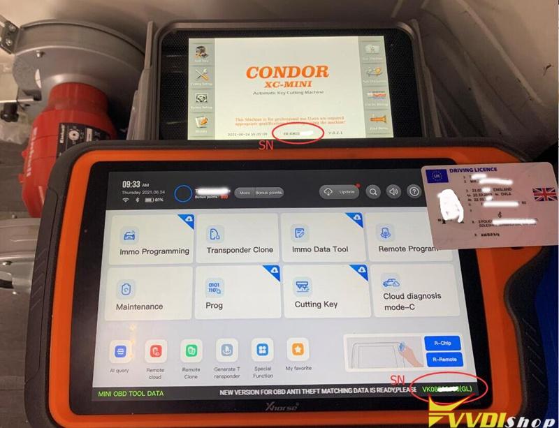 Bine Key Tool Plus With Condor Dolphin