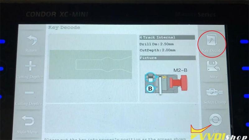 Xhorse Condor Xc Mini Plus Cut A Key For Citroen C1 Bj 2008 (5)