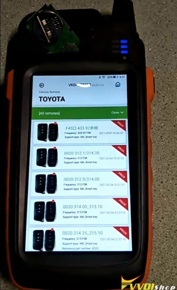 Xhorse Key Tool Max Unlock Toyota Xm Smart Key 1