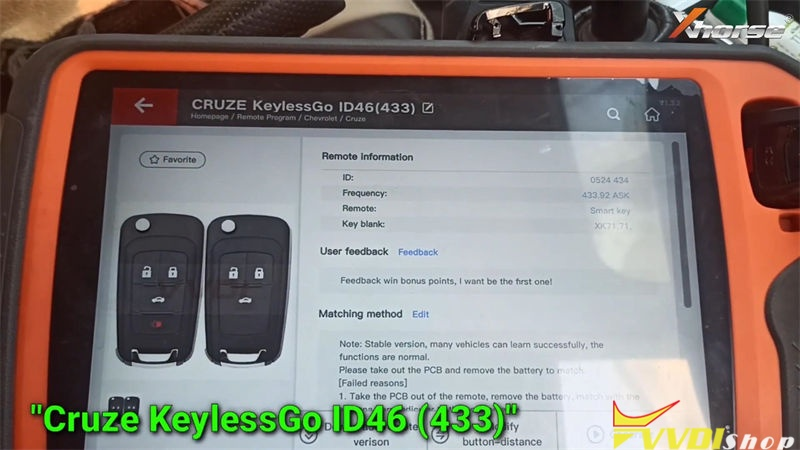 Xhorse Vvdi Key Tool Plus Adds Chevy Cruze 2010 2016 Id46 Key (2)