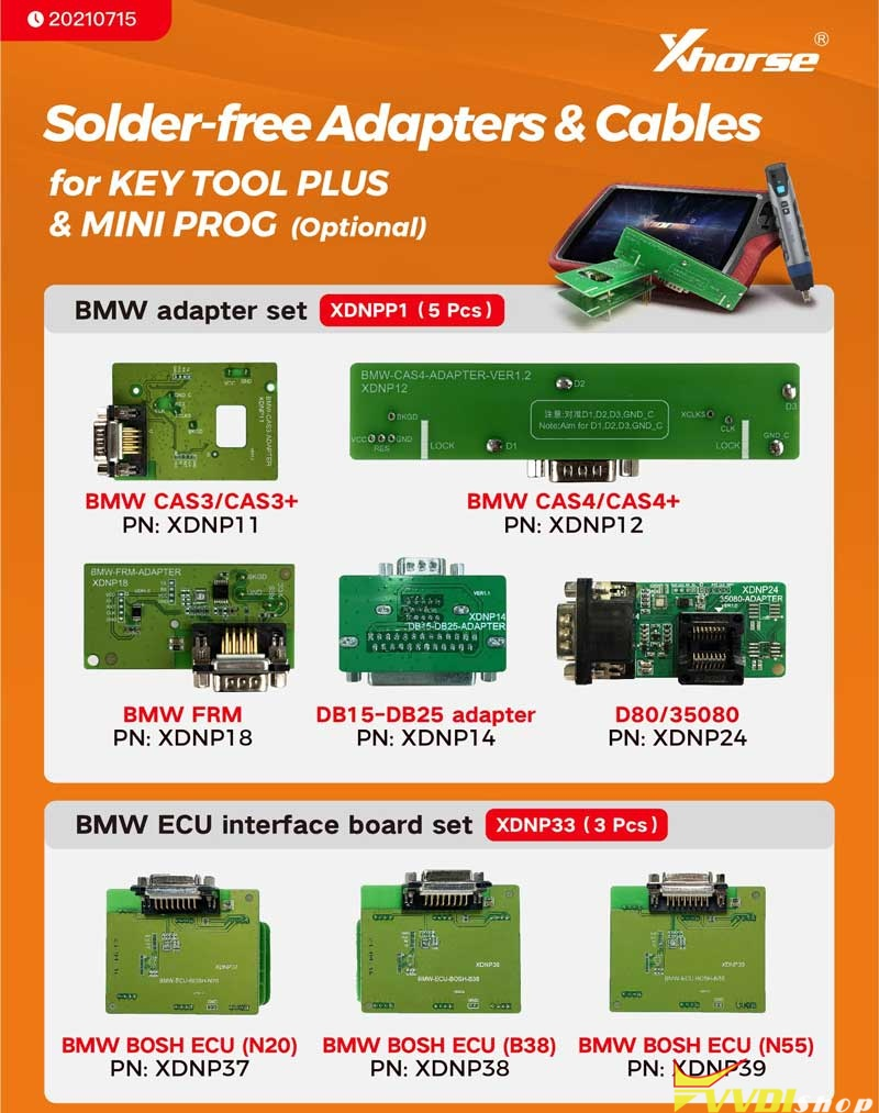Xhorse Solder Free Adapters And Cables (1)