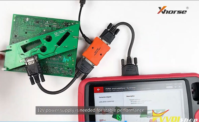 Use Audi Bcm2 Adapter With Xhorse Key Tool Plus 15