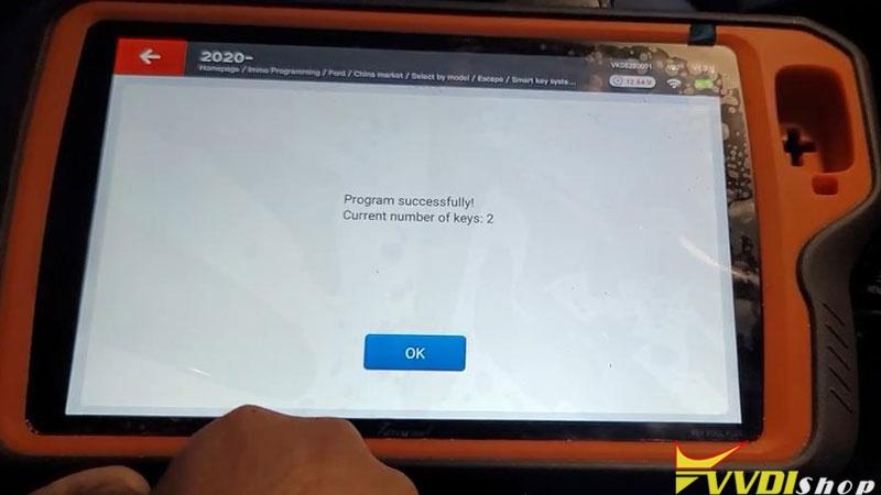 Xhorse Vvdi Key Tool Plus Program 2021 Ford Bronco Sport Akl Success (8)