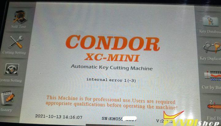 Xhorse Condor Internal Error 1 3